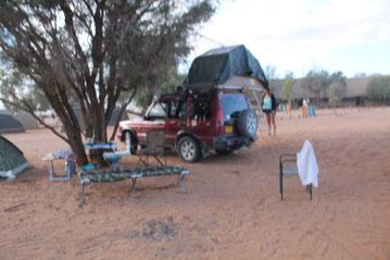 Campingplatz in Sesriem / Namibia