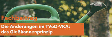 Gießkannenprinzip im TVöD