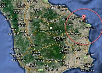 Linardi Casa Vinicola Mappa zona doc Cirò