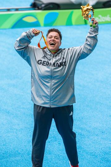 Gold Kugelstoßen Rio 2016 (Foto: Marcus Hartmann)