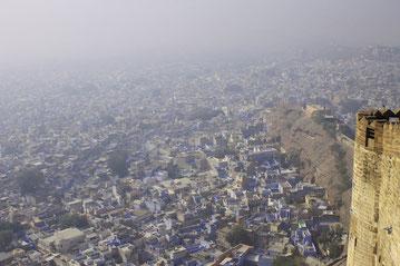 Blue City, Jodhpur, schöne Aussicht