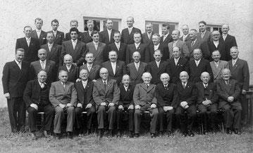 Gruppenfoto MGV anlässlich des 75-jährigen Jubiläums 1956