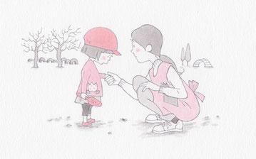 『保育の友』連載「子どものつぶやき」挿絵・イラスト