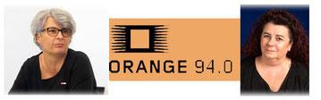 Bild: Uschi Göltl und Gaby Bogdan mit Radio Orange 94.0.