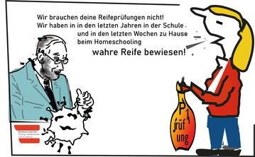 """UBG, VLI und ÖLI-UG fordern: """"Herr Bildungsminister Faßmann handeln Sie endlich und sagen Sie die schriftliche Zentralmatura 2020 ab!"""" Bild: spagra"""
