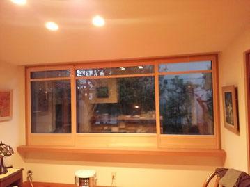 木製ガラス窓