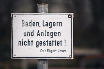 Verbotsschild  ·  Insel Reichenau