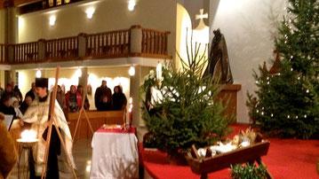 Рождественская служба в храме Святого Духа