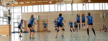 Doppelblock der starken VC-Mädchen im Spiel gegen Bad Griesbach