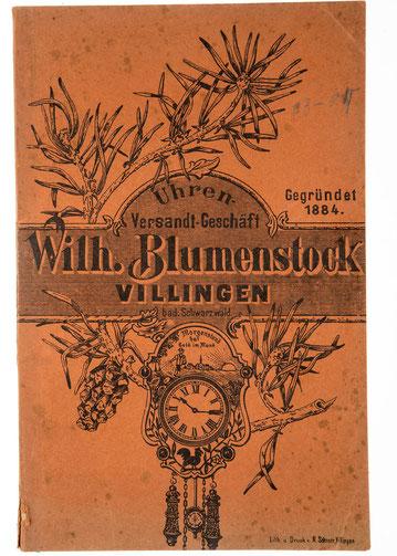 Katalog Wilh. Blumenstock, Uhrenversand-Geschäft, um 1903