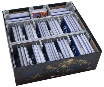 folded space insert organizer legendary marvel deck building game