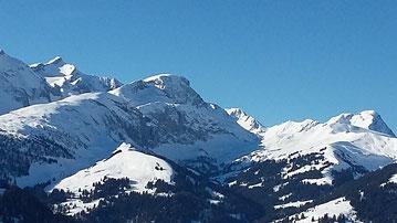 Berge, Winter, Traumwetter
