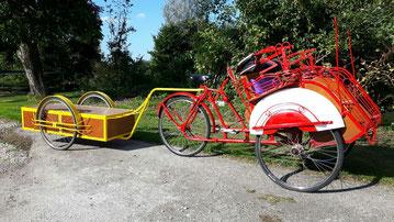 Aanhanger voor de fietstaxi