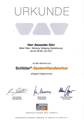 Mister Fliese - Fliesenleger aus Leipzig ist Schlüter Systemhandwerker