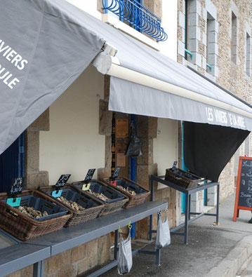 Les Viviers de la Houle. Vente d'huîtres Fine de Cancale, de coquillages, de fruits de mer et de produits locaux comme les beurres Bordier
