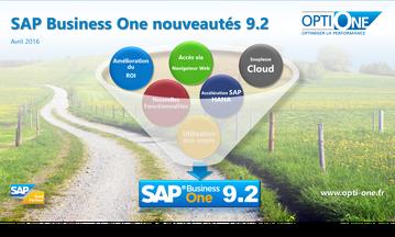 Nouveautés SAP Business One 9.2 version française