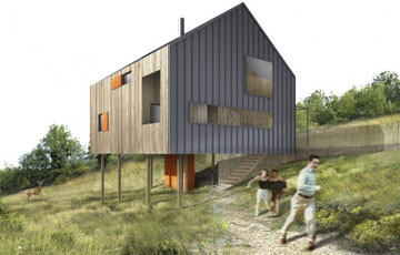 """Maison lauréate du concours d'architecture """"Des maisons pour la Bouriane"""" organisé par le PAYS BOURIAN en 2007"""