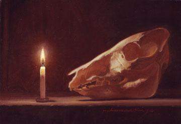 「vanitas」ミニアチュール(105×150mm)油彩