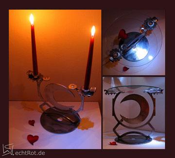 LUNA, Licht und TischSkulptur in Einem, Maße ca, 28x34x21cm