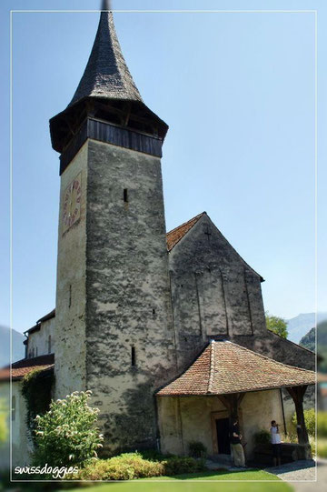 Auch die Kirche neben dem Schloss ist sehenswert!
