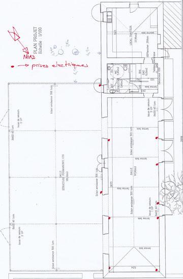 Plan de la salle de réception pour mariages de rêve en Gascogne