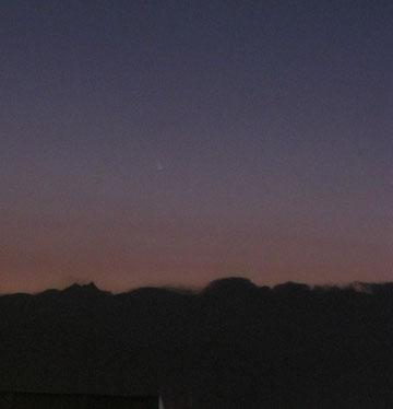 La cometa PNSTARRS. Immagine effettuta il 14 marzo 2013 da Chivasso (TO).
