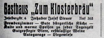 Anzeige von 1938