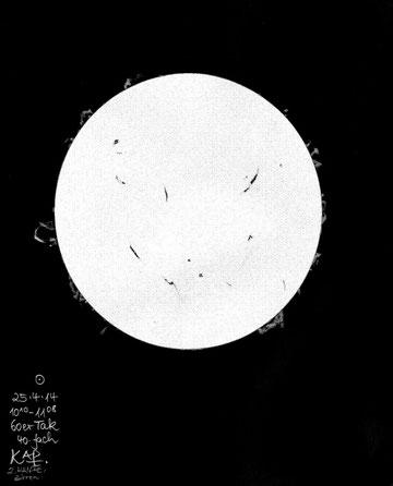 Zeichnung Sonne:25.04.2014
