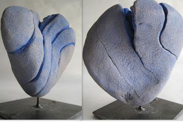 2011  -  doppel - herz - sandobjekt