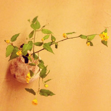 二階堂さんの花器に松永有加さんの花
