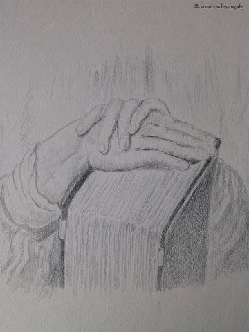 Handstudie nach Vorlage A. Dürer