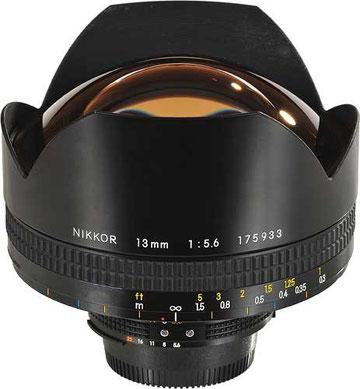Nikon 13mm f/5.6.