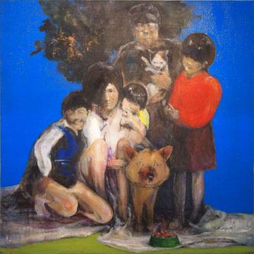 家族の青春期の肖像 2006年 145.5x145.5cm