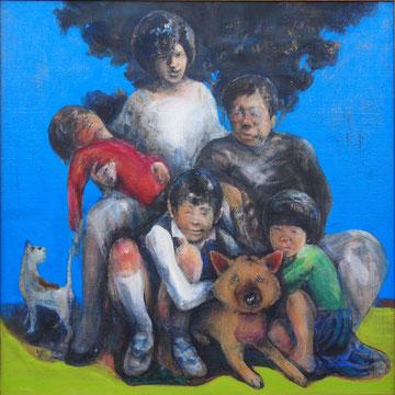 家族の青春期の肖像 2005年 145.5x145.5cm
