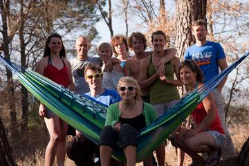 The smash crew: Mac, Holly, Edgar, Ginger Jonny, Heather, Neil, Jack, Hazel and Mayan. Photo by Jack Geldard.