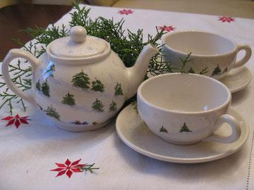 Winterwald : Teeservice für zwei
