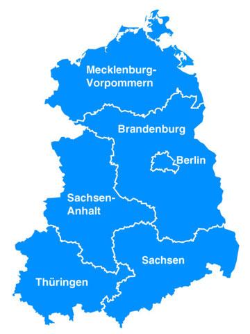 Vertretungsgebiete der Handelsvertretung Roesler
