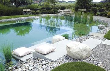naturpool schwimmteich paraguay naturhaus organisch kologisch bauen aus lehm und bambus. Black Bedroom Furniture Sets. Home Design Ideas