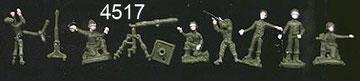 4517 Morteros y ametralladoras