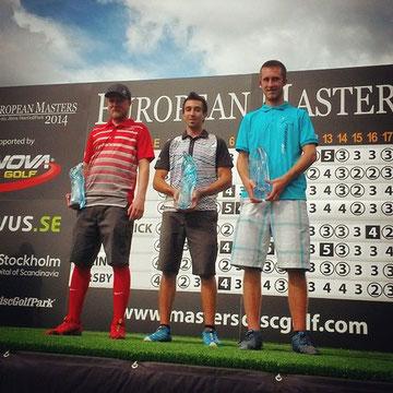 Le podium de l'European Masters 2014