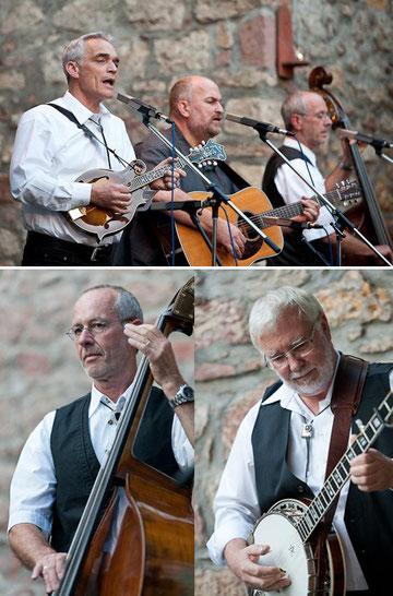 Die Oathtown Bluegrass Band im Pfarrhof Malterdingen