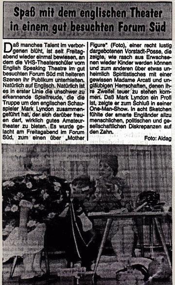 Buxtehuder Tageblatt, Sept. 1988