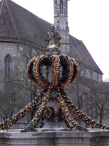 Geschmückter Brunnen , Rothenburg