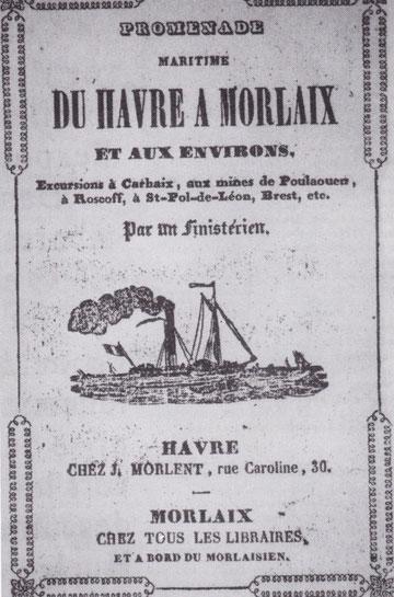 Édouard Corbière à le sens de la communication, il édite très tôt un petit guide associant, la promenade maritime à bord des paquebots à une visite pittoresque d'une partie de la Bretagne