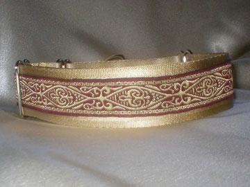 Martingale, Halsband, 4cm, Gurtband champagnerfarben, edele Borte