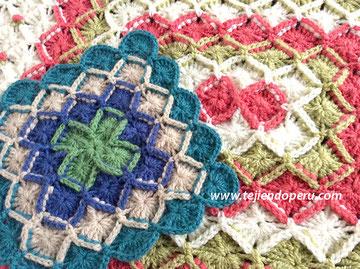 Cómo tejer bavarian crochet en forma cuadrada y rectangular