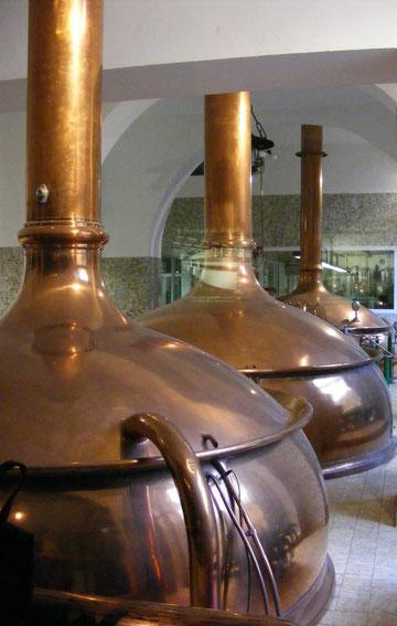 Kupferkessel der Barre Brauerei