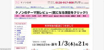 ケノン公式ホームページ「kenon.jp」