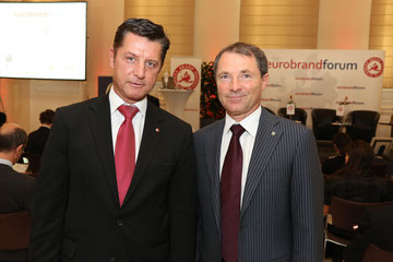 Dr. Franz Wohlfahrt, CEO, Novomatic Group of Companies & Dr. Gerhard Hrebicek Vorstand european brand institute