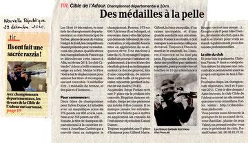 Championnat départemental 2010: une moisson de médailles (cliquez sur l'image pour lire l'article).